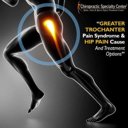 Sprained hip shown
