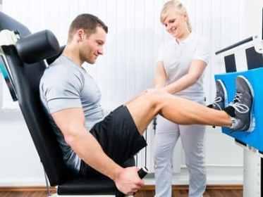 Rehabilitation of an injured knee