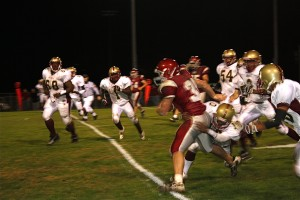 Sophomore fullback Jake Yourison was unstoppable Friday, rushing for 332 yards and five touchdowns in Naugatuck's 35-14 win over Sacred Heart.