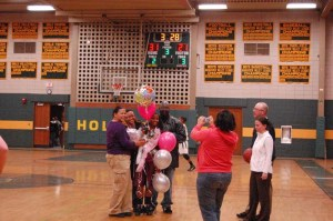 Naugy senior captain Jessica Webber scored her 1,000th career point Tuesday night, becoming the ninth player in program history to reach the milestone.