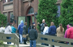 A record 255 people lined up outside St. Michael's Church in Naugatuck last November to receive holiday baskets from the Ecumenical Food Bank.
