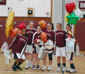 Naugatuck's six seniors, Jessica Webber, Melissa Miller, Alexis Granahan and Julia Longo, celebrated senior night by qualifying for the Class L state tournament.