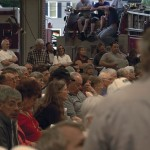 The large turnout at May 5's town meeting regarding the budget might be seen again this Tuesday as Beacon Falls will hold a public hearing to discuss the proposed budget. Town officials cut nearly $85,000 from the budget at a joint board meeting Wednesday.
