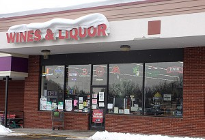 Saverio D'Archangelo, owner of Mountview Plaza Wines and Liquors above, has filed a lawsuit against the ZBA. PHOTO BY LARAINE WESCHLER.