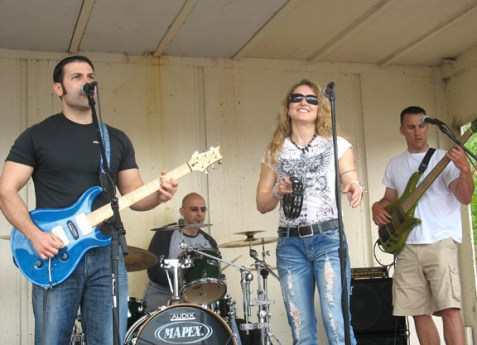 Off the Charts rocks out at Beacon Hose Co. 1 during the 4th annual Naugatuck Valley River Race and Festival May 7. PHOTO BY ELIO GUGLIOTTI