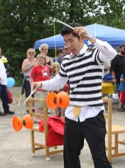 Rob Lok, with Cirque Du Jour, performs with yoyos at Naugatuck Duck Day June 5.