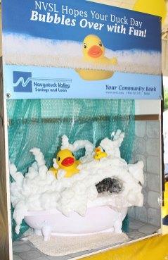 A diarama sponsored by Naugatuck Valley Savings and Loan shows a duck bath at Naugatuck Duck Day June 5.