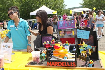 Nadellis sponsored a duck fight display at Naugatuck Duck Day June 5.