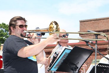 Charley Marenghi performs with the Rubber City Blues Band at Naugatuck Duck Day June 5.