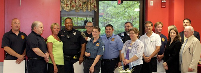 Emegency personell were honored Wednesday at Beacon Brook Health Center for their heroic actions.