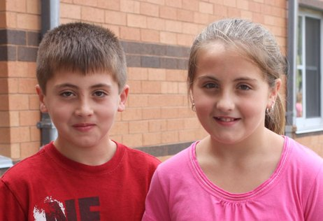 Twins Kyle and Emily Dumschott, 11, both said they look forward to participating in school sports when they enter sixth grade at Long River Middle School this year.