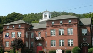 Naugatuck's long-term school facility planning committee is eyeing a plan that would convert Salem Elementary School (pictured) and Hillside Intermediate School into a municipal government complex to replace Town Hall. –FILE PHOTO