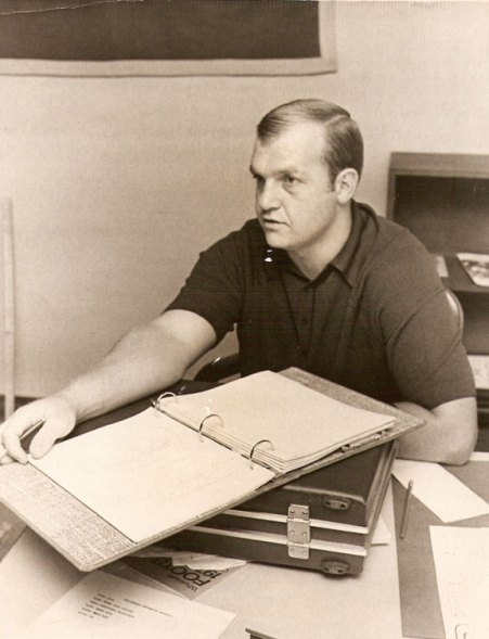 Former Naugatuck head coach Craig Peters, seen during his first year in 1973, coached the Greyhounds in 290 games over 28 seasons.