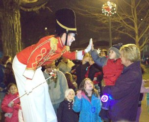 Residents celebrated the holiday season at Naugatuck's annual tree lighting ceremony on the Town Green Dec. 5. - LARAINE WESCHLER