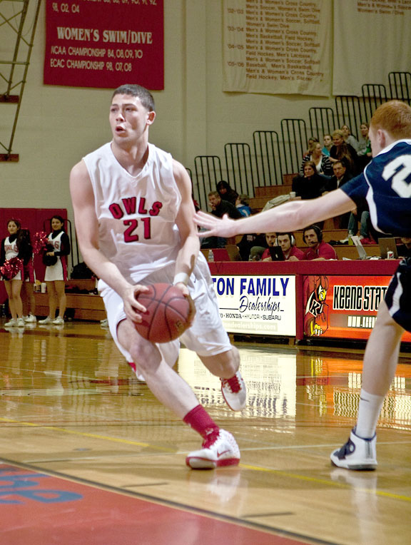 Anthony Mariano of Naugatuck is averaging 8.8 points per game for the Keene State College Owls. -COURTESY JESSE FERREIRA
