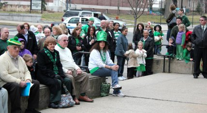 Naugatuck's Ancient Order of Hibernians celebrated St. Patrick's Day in Naugatuck March 17. Kathryn (Cronin) Green and David Cronin were honored as Naugatuck's co-Irish Mayors for the Day. –ELIO GUGLIOTTI
