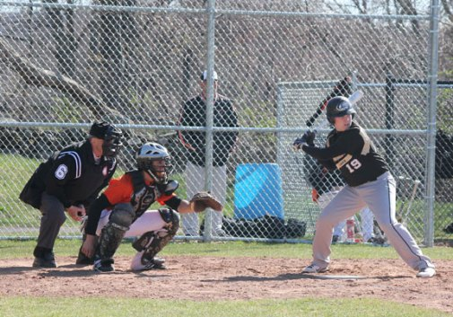 The Hawks played their home opener April 5 against Watertown. Woodland fell to the Indians 5-1. –ELIO GUGLIOTTI