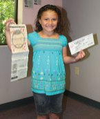 Lauren Sanchez of Naugatuck won the Citizen's News' annual Draw Your Dad coloring contest in the 6 to 8 year old age group. Jonathan Dyer Gray of Prospect won in the 9 to 12 year old age group.
