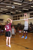 Naugatuck High School students and faculty faced off in the Wish Upon a Net fundraiser May 31 at the school. –LUKE MARSHALL