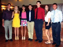 The Valley Association of REALTORS awarded $500 scholarships to one boy and girl from the six public high schools in Ansonia, Beacon Falls, Derby, Oxford, Seymour and Shelton at a dinner recently. Pictured are scholarship recipients that attended the dinner, from left, Gabriel Armentano and Stephanie Vitka of Oxford High School, Stephanie Orts of Seymour High School, Michael Christiano of Woodland Regional High School, Justin Letendre of Shelton High School and Samantha Kalafut and Christopher Estwan of Derby High School.