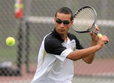 Kyle Beynor, Naugatuck Valley League singles champ, and the Woodland boys tennis team didn't lose a match in league play. -RA ARCHIVE
