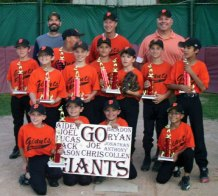 The Union City Little League Giants won the minors division championship. The Giants finished the regular season undefeated, lost once during the playoffs and bounced back to win the championship. The Giants finished the season 17-1. 'These kids remained positive, cheered on their team the entire game, and made great hits and plays in the field all season long,' head coach Charlie Alexander said. Pictured, bottom row from left, Jonathan McPhail, Lucas McKenney, Colin Arnold, Chris Figueroa. Top row, Mason Barrett, Jack Tajmajer, Anthony Steele, Brayden Alves, Aidan Alexander, Ryan Sutherland, Joel Alexander, Joseph Macary, assistant coach Pete Sutherland, head coach Charlie Alexander, assistant coach Matt Macary.