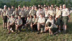 """John Daunis, Nick Coelho, Dan Leclerc and Mike Lonchar, all Boy Scouts from Prospect's Troop 258, recently traveled to West Virginia for the Summit Shakedown at the Summit Bechtel Family National Scout Reserve. The Summit will be the permanent home to Scouting's National Jamborees beginning in 2013. The four scouts were among 2,000 Boy Scouts, Venturers and unit leaders who experienced some of the program elements that will be offered to approximately 40,000 attendees at next year's Jamboree. Each day the boys participated in many activities, such as ziplining, BMX and mountain biking, skateboarding, and rock wall climbing, and later had the chance to give feedback. The four Prospect scouts are pictured with their """"troop"""" for the weekend. -CONTRIBUTED"""