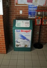 A drop box for unwanted prescription medication is available at the Naugatuck Police Department on Spring Street. –FILE PHOTO