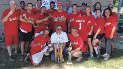 The Beacon Brook Heath Center Bandits won the 2012 Athena Softball Tournament Aug. 25 in Southington. The Bandits, who have not lost a game in two years, dedicated the win to Ellen Olschefski. Olschefski, a former administrator at the center, died unexpectedly in July. The Bandits presented the game ball to her husband, Bob Olschefski, after the win. The tournament raises money to assist employees with the financial burdens associated with cancer. -CONTRIBUTED