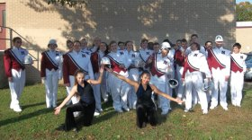 Naugatuck High School marching band members held a march-a-thon on Oct. 14 to raise funds for their program. Donations can be mailed to NHS Band, Naugatuck High School, 543 Rubber Ave., Naugatuck, CT 06770.-CONTRIBUTED