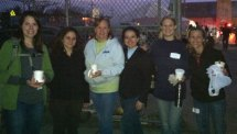 A group of seven local women, Heather Lally, Krista DeRosa, Dena Cassidy, Annabelle Maia, Holly Burton, Jackie Flynn, and Mary Halloran (not pictured) went to Rockaway Beach in Queens, N.Y., in November to help clean up from Superstorm Sandy and bring donations. The effort was initiated by Flynn, who owns Balanced Body Chiropractic Center in Naugatuck. The group was able to bring about $500 worth of supplies, which were donated by the community. -CONTRIBUTED