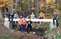 Boy Scout Brady Brown of Naugatuck Troop 109 recently completed his Eagle Scout project to benefit Saint Vincent Ferrer Church in Naugatuck. He compiled donations, materials and volunteers to tear down and rebuild a bridge over a small creek on church property. Those who helped Brady with his project were: Charlie Alegi (Eagle project coach), Curtis Brown, Nick Fox, Alex Monsky, Chris Monsky, Josh Miller, Brandon Shemanski, Tony Rodriguez, Adam Miller, Francis Ouellette, Eric Dykes, Al Nitowski, Chris Brown, Cody Corcho, Melissa Miller, Ryan Graham, Jake Miller and Brandon Cleland. –CONTRIBUTED