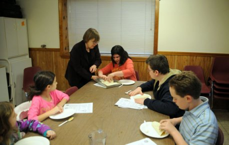 Naugatuck youth received a lesson in cooking during a cooking class, Jan. 15, held by the Naugatuck parks and Recreation Department. –LUKE MARSHALL