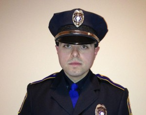 Officer Andre Moutela, 25, is a graduate of Naugatuck High School and has been with the department for three years. Moutela will be honored by the Naugatuck Exchange Club as this year's Police Officer of the Year. –CONTRIBUTED