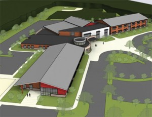 An artistic rendering of the new elementary school to be built in Prospect. The Region 16 Board of Education has voted to name the school Chatfield Elementary School after Prospect Mayor Robert Chatfield. –CONTRIBUTED