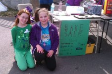 Brooke Sullivan and Cassidy Doiron, third-graders at Laurel Ledge Elementary School in Beacon Falls, and neighbors held a bake sale on March 24 to benefit the Seymour Animal Shelter. In two hours they raised $136.50. -CONTRIBUTED