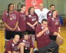 Naugatuck Special Olympics competed in the Northwest Invitational March 16 held in Waterbury taking home a gold medal. Pictured, bottom row from left, Nick Capozzi, Joseph Thiel, Craig Taylor and Meaghan Jones. Back row from left, Tasha Hopkins, Willie Burdick, Dan Renzoni,Nicole Gervais, coach Jim Miele and Jake Segla. –CONTRIBUTED