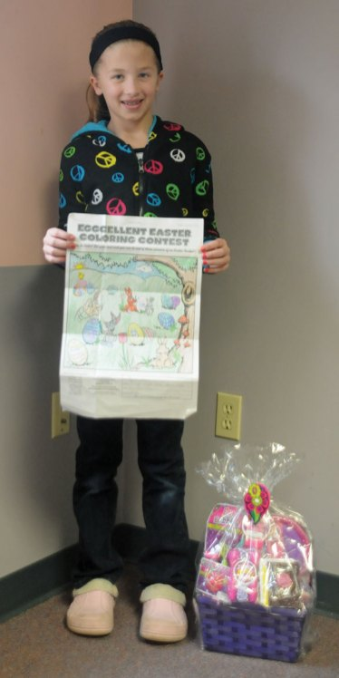Allyson Koliani, of Beacon Falls, won the Citizen's News Easter coloring contest in the 9- to 12-year-old age group. -LUKE MARSHALL