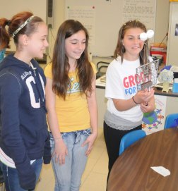 Cross Street Intermediate School in Naugatuck held its annual Invention Convention April 25. –LUKE MARSHALL