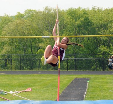 The Woodland girls won the meet NVL girls track and field championships Tuesday in Beacon Falls. The Naugatuck girls tied for third with Holy Cross at the meet. –LUKE MARSHALL