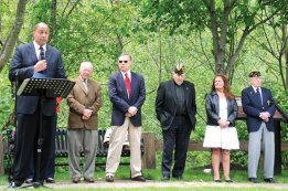 On May 26 American Legion Schafer-Fischer Post 25 hosted a ceremony at Veterans Park in Beacon Falls to commemorate Memorial Day. –LUKE MARSHALL