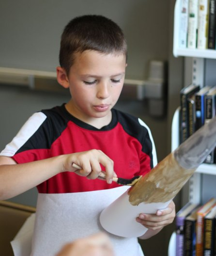 The Beacon Falls Library invited children to make glittering 'stalagmites' and 'stalactites' to decorate the library for the summer June 24. –ELIO GUGLIOTTI