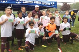 The Naugy Hounds, a U12 boys team with Naugatuck Youth Soccer, won the 19th Annual Clinton Invitational Tournament May 18 and May 19 for the second year in a row. Pictured, top row from left, assistant coaches George Martin and Mark Salomoni, coach John Jacobi and player Justin Simoes. Middle row from left, Andrew Mahler, Arthur Tomaz, Christian Jacobi, Alexander Teixeira, Jake Corbo, Logan Martin, Carlos Gonzaga and Michael Salomoni, Bottom row from left, Andres Maldanado, Rami Fayad, Aren Seeger and Thomas Martins. -CONTRIBUTED