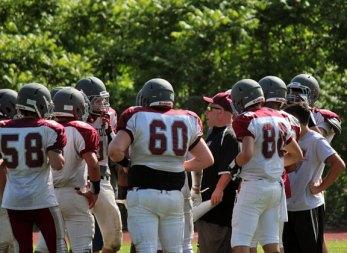 The Naugatuck High School football team held its spring scrimmage June 14 at the school. –ELIO GUGLIOTTI