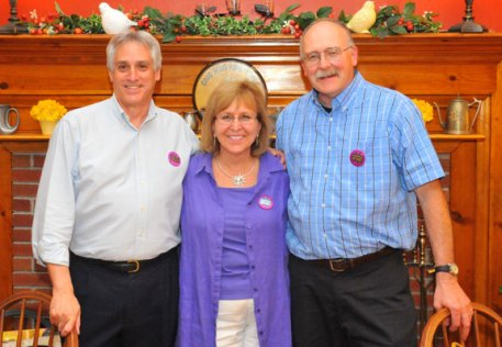 Former City Hill Middle School teachers Richard Serafino, Janice Nitowski Gruenwald Donahue and Larry Folsom recently retired with a combined career of over 100 years serving the children of Naugatuck. –CONTRIBUTED