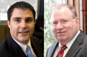 Mayor Robert Mezzo, left, a Democrat, and attorney Jim O'Sullivan, a Republican, have announced they will seek their party's endorsement to run for mayor.