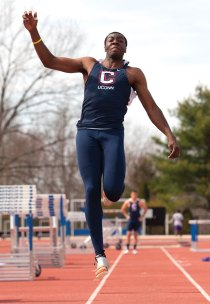 Former All-New England athlete at Naugatuck High Amanze Williams finished fourth in the triple jump at the IC4A Championships after placing eighth in the triple jump and 12th in the long jump at the Big East Championships. -STEVE SLADE