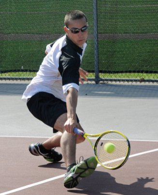 Kyle Beynor helped lead Woodland to its third straight boys NVL tennis title and won his second NVL singles title. –FILE PHOTO