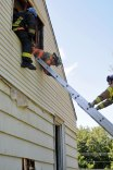 Firefighters from the Volunteer Fire Department of Prospect performed training exercises at a vacant home at 122 Waterbury Road in Prospect over the weekend. –LUKE MARSHALL
