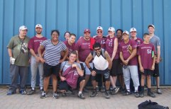 Special Olympians representing Naugatuck participated in the Connecticut Special Olympics at the Fall Sports Festival Sept. 7 and Sept. 8 in North Branford. Pictured are Willie Burdick, Scott Kohl, Tiffany Harris, Jennifer Uber, Dan Renzoni, coach Donny Sprague, Jim and Trish Neal, Tasha Hopkins, Vinnie Singleton, Shawn Liedel, Joey Sequenzim, JD Neal, Dan Disanto and Fern Martinez.-CONTRIBUTED